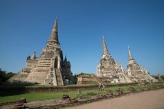 Wat Phra Sri Sanphet. In Ayutthaya, Thailand Royalty Free Stock Photography