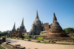 Wat Phra Sri Sanphet. In Ayutthaya, Thailand Stock Photos