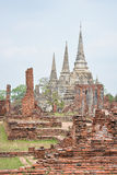 Wat Phra Sri Sanphet, Ayutthaya,Thailand Stock Photo