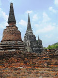 Wat Phra Sri Sanphet en parc historique d'Ayutthaya Photo stock