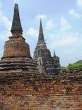 Wat Phra Sri Sanphet in het Historische Park van Ayutthaya Stock Foto
