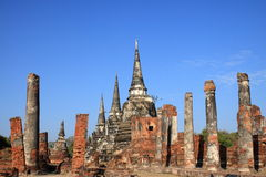Wat Phra Sri Sanphet, kungliga Chedi Arkivfoton