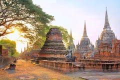 Wat Phra Sri Sanphet - oude tempel in Ayutthaya, Thailand Royalty-vrije Stock Afbeeldingen