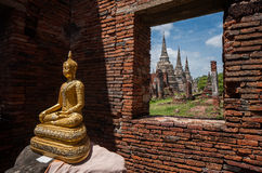 Wat Phra Sri Sanphet. Is situated on the city island in Ayutthaya's World Heritage Royalty Free Stock Image