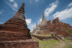 Wat Phra Sri Sanphet. Is situated on the city island in Ayutthaya's World Heritage Stock Photo
