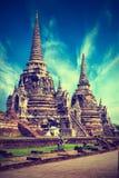 Wat Phra Sri Sanphet-tempel. Ayutthaya, Thailand Royalty-vrije Stock Afbeeldingen
