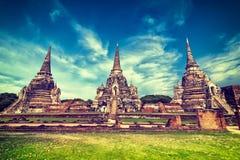 Wat Phra Sri Sanphet-tempel. Ayutthaya, Thailand stock fotografie