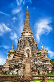 Wat Phra Sri Sanphet-tempel. Ayutthaya, Thailand royalty-vrije stock afbeelding