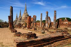 Wat Phra Sri Sanphet temple. Ayutthaya Royalty Free Stock Photography