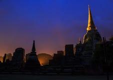 Wat Phra Sri Sanphet at twilight time Stock Image