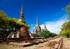 Wat Phra Sri Sanphet van Ayutthaya2 Stock Fotografie