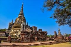 Wat Phra Sri Sanphet the world heritage site in ayutthaya, Thailand Stock Photo