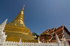 Wat Phra Ten Chae Haeng przy Nan Tajlandia Zdjęcia Stock