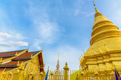 Wat Phra Ten Hariphunchai świątynia Obrazy Royalty Free