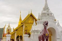 Wat Phra Ten Hariphunchai świątynia Zdjęcia Royalty Free