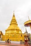 Wat Phra Ten Hariphunchai świątynia Zdjęcie Stock