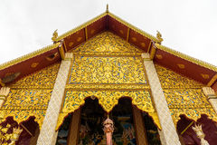 Wat Phra Ten Hariphunchai świątynia Obrazy Stock