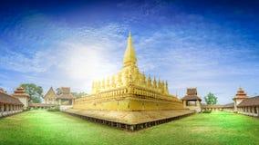 Wat Phra Ten Luang Vientiane Lao Zdjęcie Stock