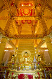 Wat Phra Ten Nong Bua wnętrze Obrazy Royalty Free