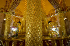 Wat Phra Ten Nong Bua wnętrze Fotografia Royalty Free