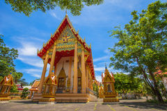 A golden Buddha image interred up to the cheat in Wat Phra Thong Royalty Free Stock Photography