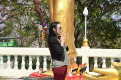 Wat-phra Yai, Buddha-Tempel Pattaya lizenzfreie stockfotografie