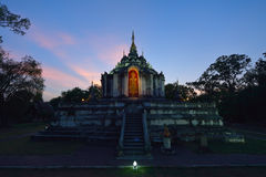 Wat Phra Yuen is Thai temple in Lamphun, Thailand Stock Image
