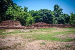 Wat Phrachao Ong Dam (Temple of the Black-Bodied Lord), a ruined. Temple that is part of the Wiang Kum Kam archaeological site, Chiang Mai, Thailand Stock Image