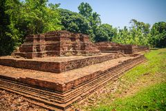 Wat Phrachao Ong Dam (Temple of the Black-Bodied Lord), a ruined. Temple that is part of the Wiang Kam archaeological site, Chiang Mai, Thailand Royalty Free Stock Images
