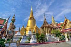 Wat Phrakaew przy Bangkok, Tajlandia fotografia stock