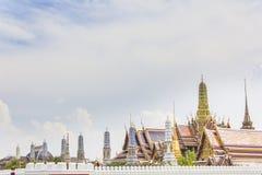 Wat phrakaew, storslagen slott, Bangkok Royaltyfri Bild