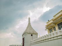 Wat Phrakeaw Temple Gate with Cloud sky.Wat Phrakeaw Temple is the main Temple of bangkok. Capital of Thailand stock photography