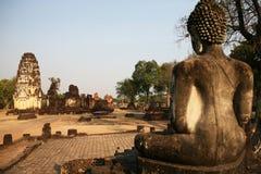 Wat Phrapai Luang, Sukhothai的想法的菩萨 库存照片