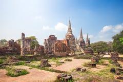Wat Phrasisanpetch in the Ayutthaya Royalty Free Stock Photography