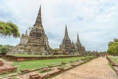 Wat Phrasisanpetch in Ayutthaya-Provincie, Thailand Royalty-vrije Stock Fotografie