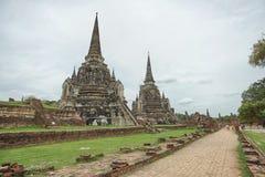 Wat Phrasisanpetch in Ayutthaya-Provincie, Thailand Stock Foto's