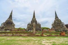 Wat Phrasisanpetch in Ayutthaya-Provincie, Thailand Stock Fotografie