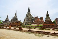 Wat Phrasisanpetch in Ayutthaya-Provincie, Thailand Stock Afbeeldingen