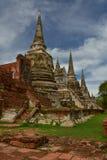 Wat Phrasisanpetch en el parque histórico de Ayutthaya Imagen de archivo