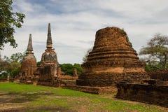 Wat Phrasisanpetch en el parque histórico de Ayutthaya Fotografía de archivo