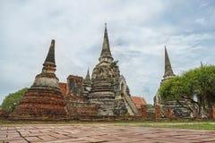 Wat Phrasisanpetch w Ayutthaya prowinci, Tajlandia Zdjęcia Stock