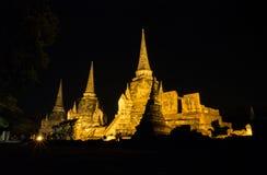 Wat Phrasisanpeth阿尤特拉利夫雷斯 库存照片