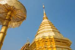 Wat Phrathat土井素贴寺庙在清迈,泰国 库存图片