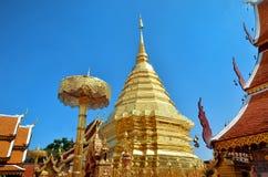 Wat Phrathat土井素贴寺庙在清迈 免版税图库摄影
