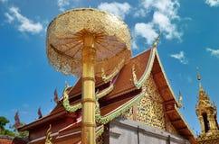 Wat Phrathat土井素贴寺庙在清迈 免版税库存照片