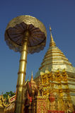 Wat Phrathat土井素贴寺庙在清迈 库存照片