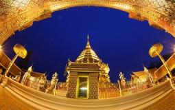 Wat Phrathat土井素贴,清迈,泰国 免版税库存照片