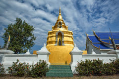 Wat Phrathat Chiang Kham District, Phayao Royaltyfri Fotografi