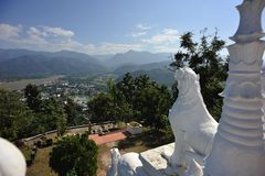 Wat Phrathat Doi Gongmoo, Mae Hong Son, Tailândia Fotografia de Stock Royalty Free