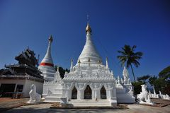 Wat Phrathat Doi Gongmoo, Mae Hong Son, Thailand Stock Photo